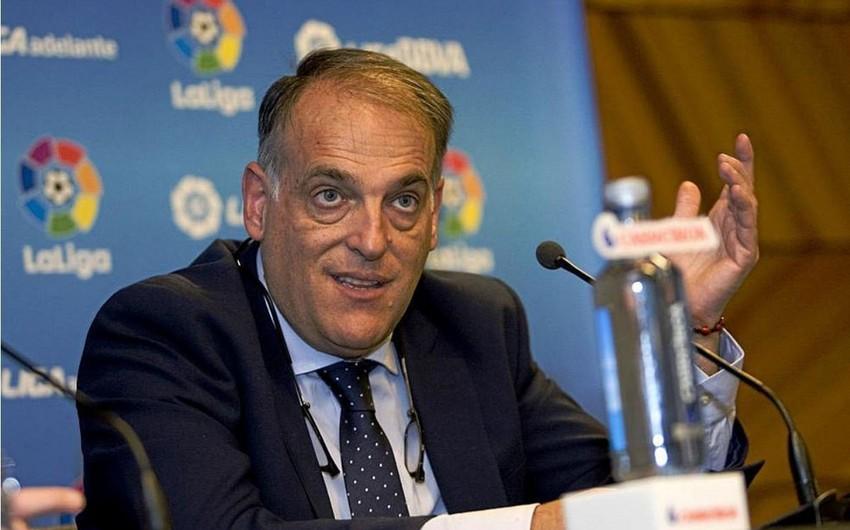 Xavyer Tebas yenidən La Liqanın prezidenti seçilib