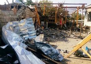 Вражеский снаряд попал в жилой дом в Агдаме