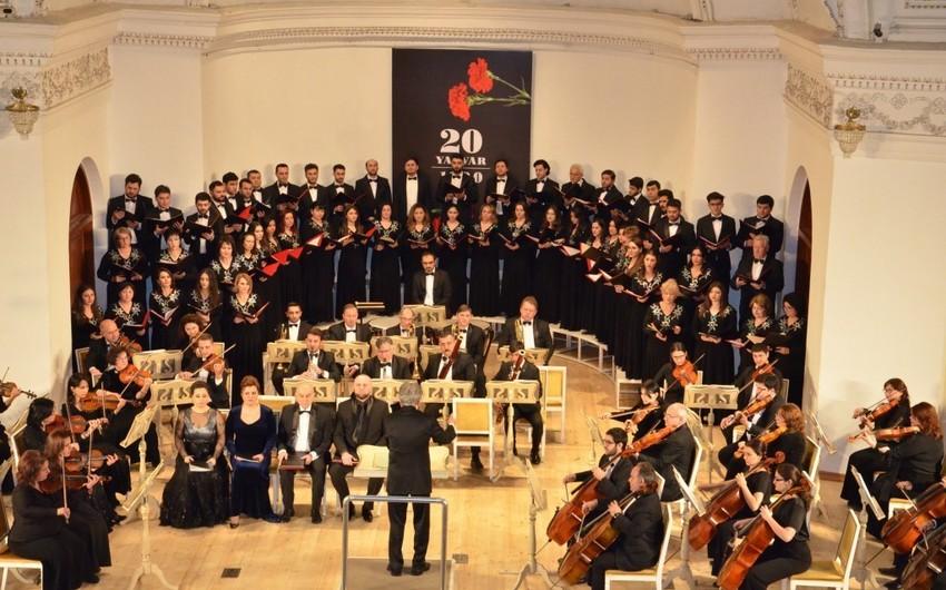 Filarmoniyada 20 Yanvar faciəsinə həsr olunmuş anım tədbiri keçirilib