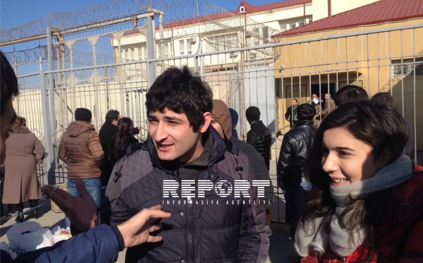 """""""Nida"""" Vətəndaş Hərəkatının iki üzvü azadlığa çıxıb - FOTOLAR"""