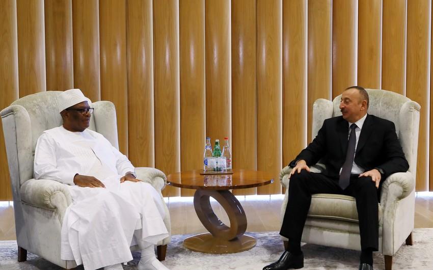 Prezident İlham Əliyev Malinin dövlət başçısı ilə görüşüb