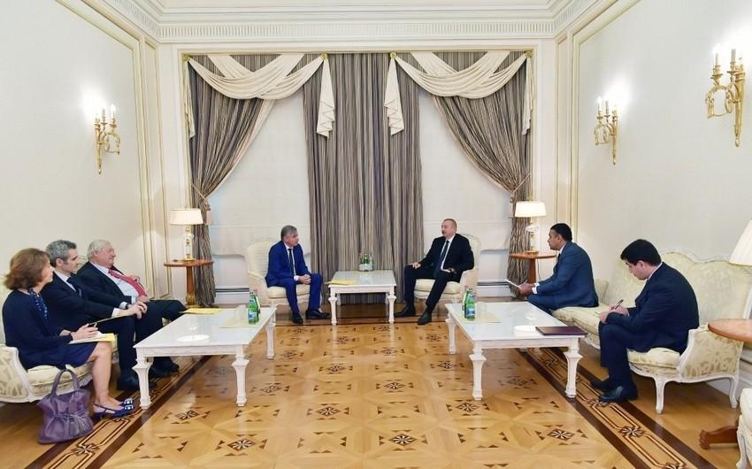 Prezident İlham Əliyev Fransa Senatının Fransa-Qafqaz dostluq qrupu sədrini qəbul edib - YENİLƏNİB