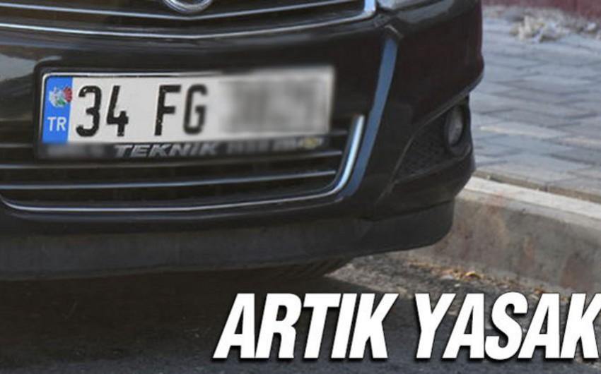 Türkiyədə avtomobillərdə FG hərfləri olan dövlət qeydiyyat nişanları yığışdırılacaq