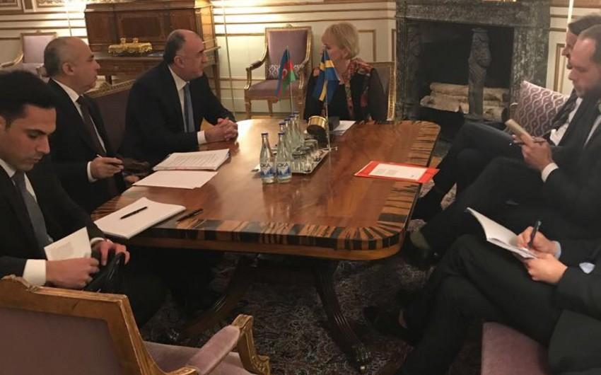 Эльмар Мамедъяров встретился с министром иностранных дел Швеции
