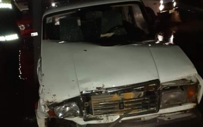 Ağstafada taksi aşdı, sərişinlər yaralandılar - YENİLƏNİB