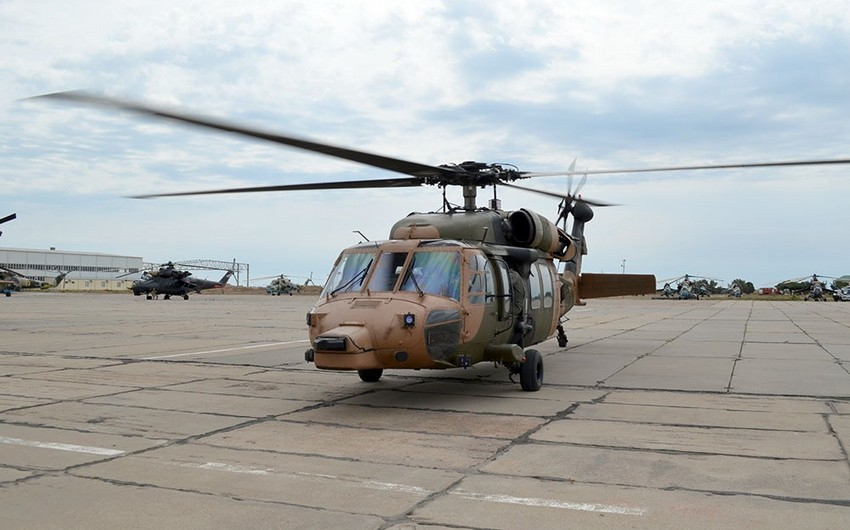 Combat helicopters are involved in the TurAz Qartalı - 2019 Exercises - VIDEO
