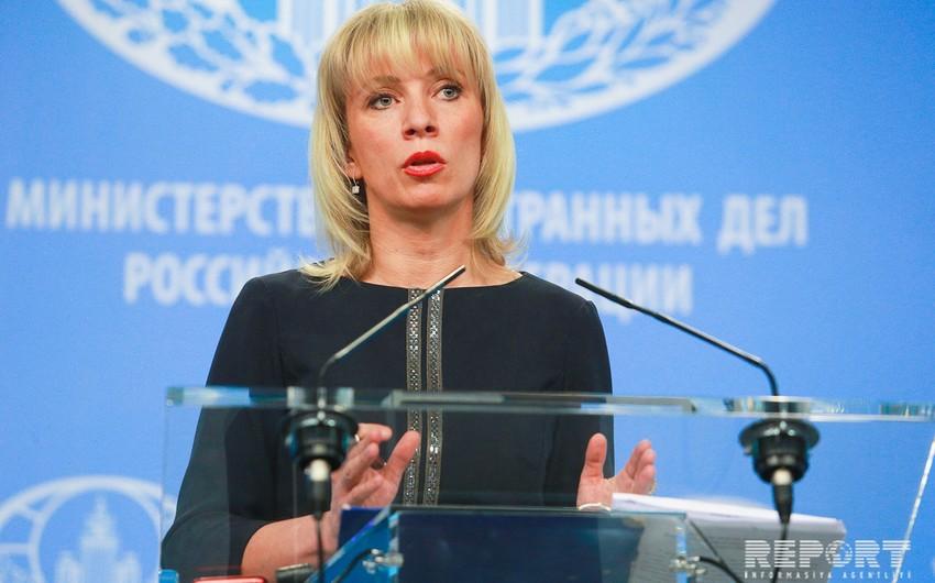 Mariya Zaxarova: Sergey Lavrov Bakıda Qarabağ münaqişəsini müzakirə edəcək