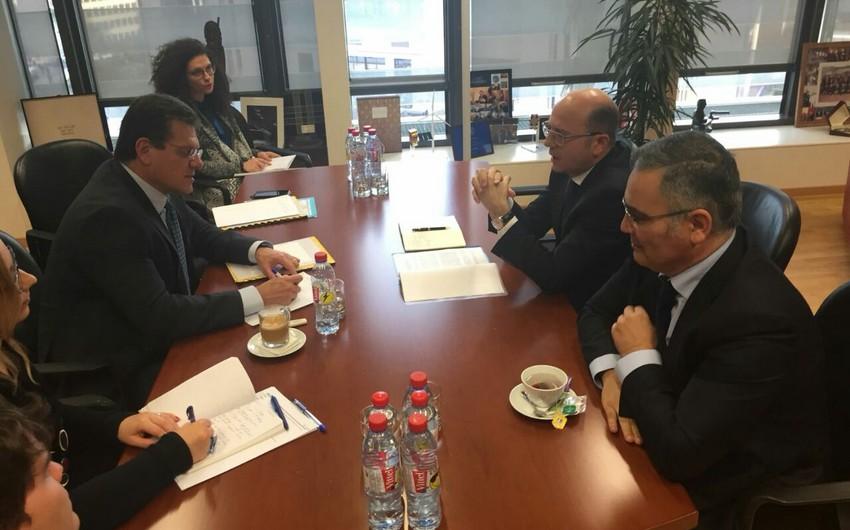Nazir Pərviz Şahbazov Avropa Komissiyasının enerji birliyi üzrə vitse-prezidenti ilə görüşüb