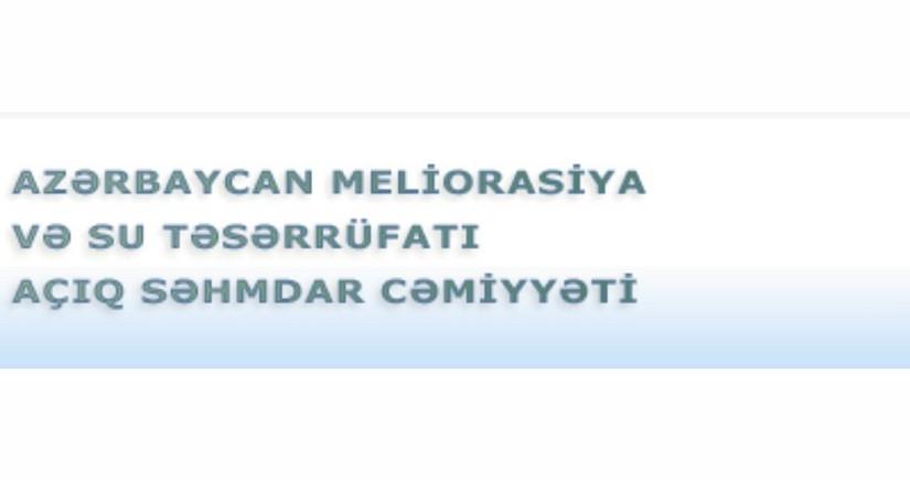 """""""Azərbaycan Meliorasiya və Su Təsərrüfatı""""nın mənfəəti 8% artıb"""