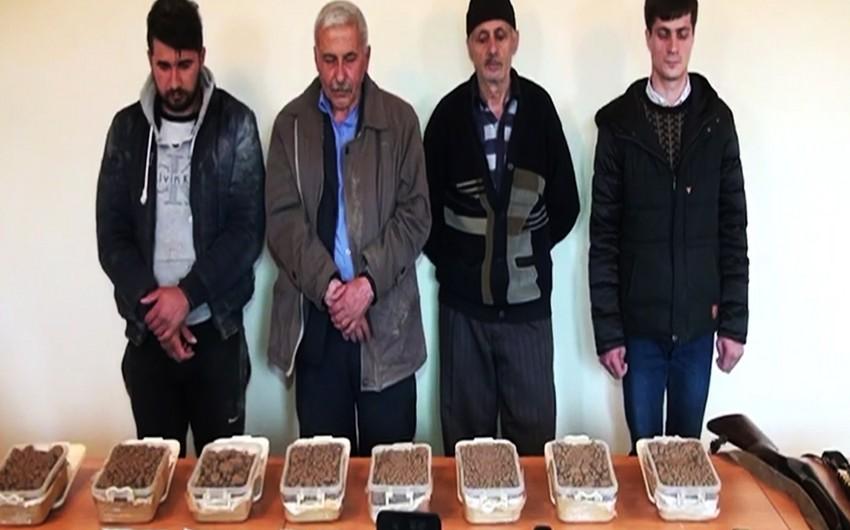 İran-Azərbaycan sərhədini pozan şəxslər saxlanılıb, külli miqdarda narkotik vasitə dövriyyədən çıxarılıb