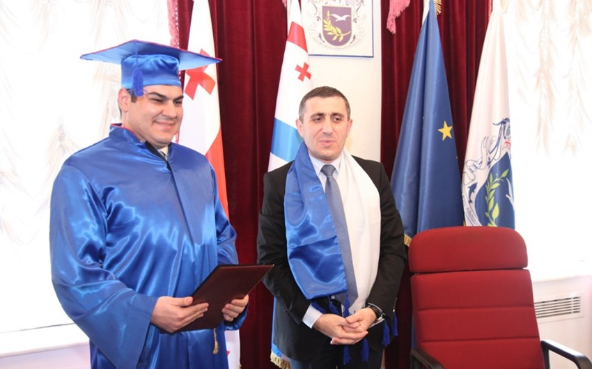 Azərbaycanlı alimə Batumi Dövlət Universitetinin fəxri doktoru diplomu verilib