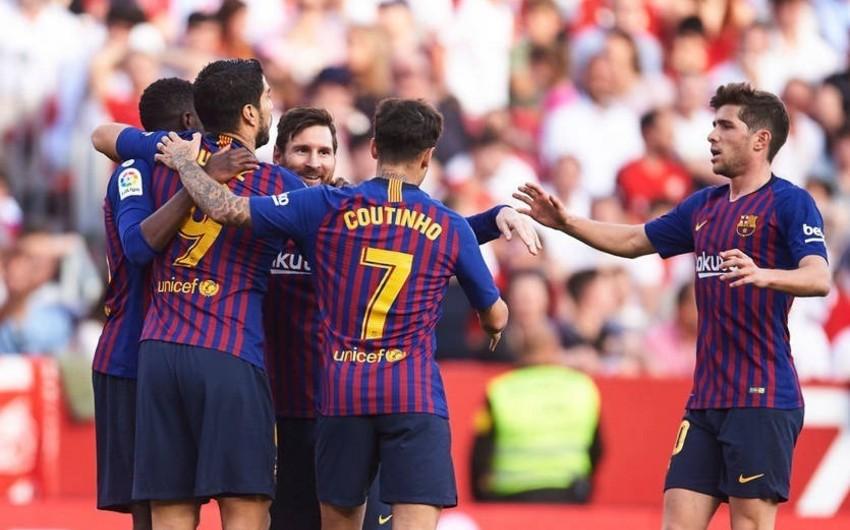 Messi Barselonaya Sevilya üzərində səfər qələbəsi qazandırıb - VİDEO