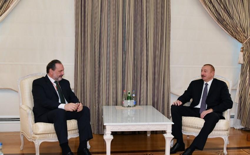 Президент Ильхам Алиев принял председателя Палаты представителей Уругвая