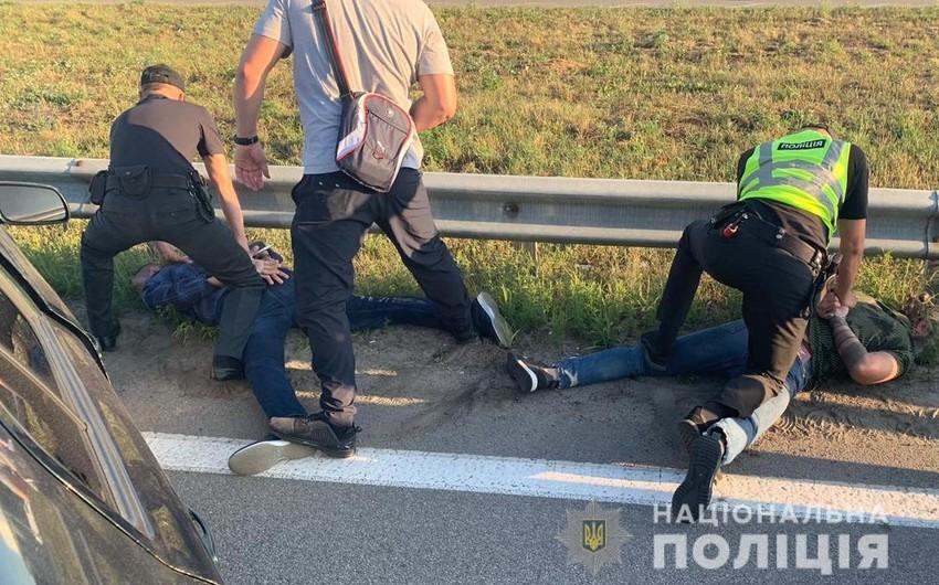 Ukraynada iş adamını qarət edən üç Gürcüstan vətəndaşı saxlanılıb - FOTO