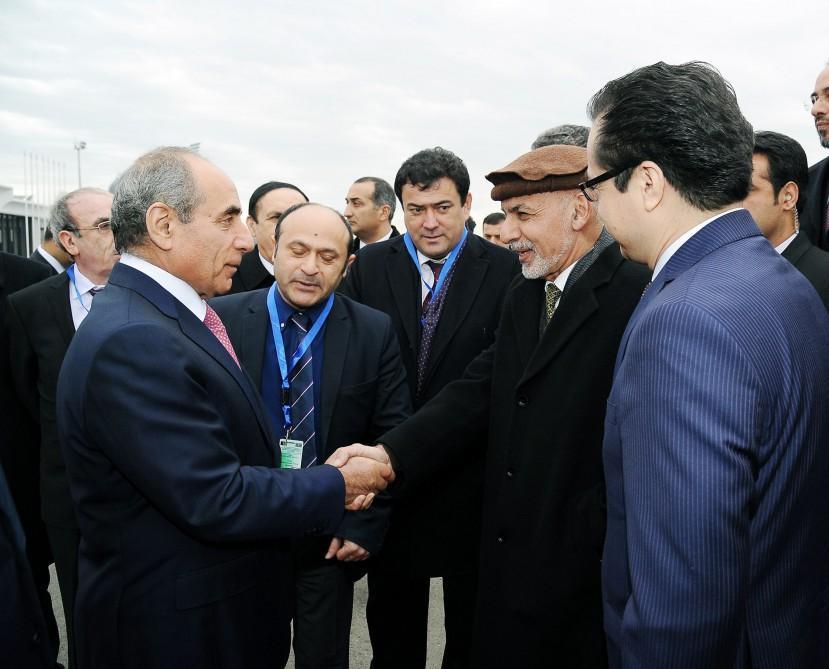 Президент Афганистана прибыл с официальным визитом в Азербайджан - ФОТО