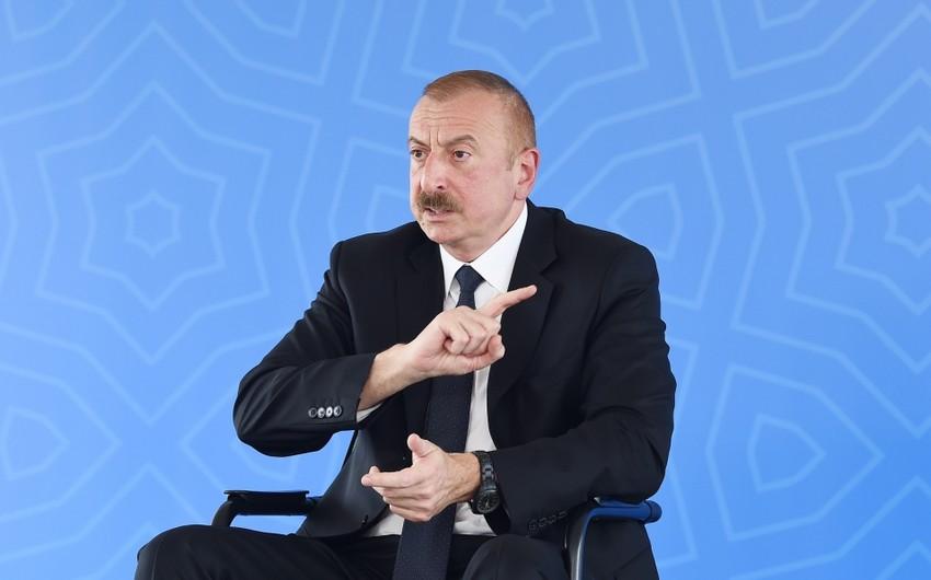 Azərbaycan Prezidenti: Hakimiyyəti qanunsuz yollarla zəbt etmək istəyirdilər