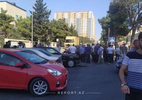 Xətai rayonunda iki avtomobil toqquşdu