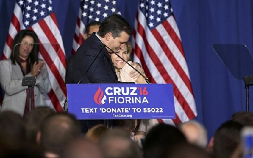 Respublikaçı Ted Kruz ABŞ prezidenti postu uğrunda mübarizəni dayandırıb