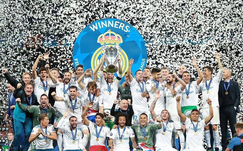 Real Madrid 13-cü dəfə futbol üzrə Çempionlar Liqasının qalibi olub - VİDEO
