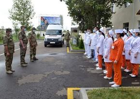 Gəncədə Hərbi Hospitalın yeni inşa edilmiş şöbəsinin açılışı olub