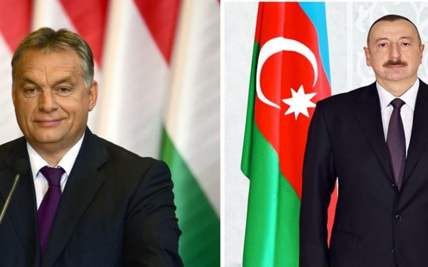 Премьер-министр Венгрии поздравил президента Азербайджана