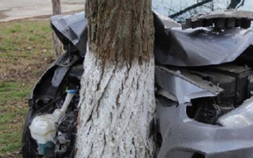 Bakıda sürücü avtomobili yol kənarındakı ağaca vurması nəticəsində ölüb