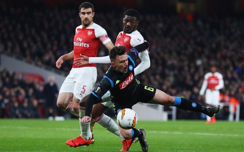 Avropa Liqasının 1/4 final mərhələsi:  Arsenal Napolini, Çelsi Slaviyanı məğlub edib - FOTO - VİDEO