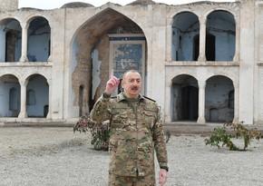 Prezident Ağdamdakı məscidin ermənilər tərəfindən dağıdılmamasının səbəbini açıqladı