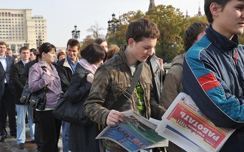 Rusiyada rəsmən 1 mln.-a yaxın işsiz var