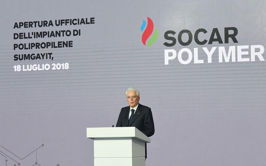 """İtaliya Prezidenti: """"SOCAR-a və """"Maire Tecnimont""""a təşəkkürümü bildirirəm"""""""