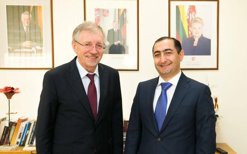 Azərbaycanla Litva arasında parlamentlərarası əlaqələr müzakirə olunub