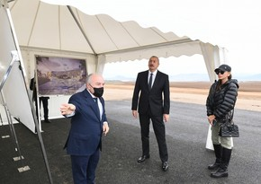 Президент ознакомился со строительством Зангиланского международного аэропорта