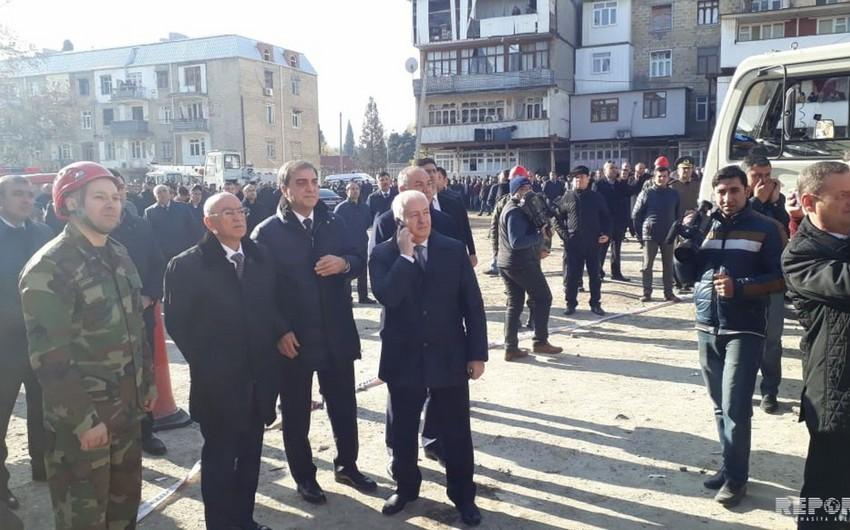 Kəmaləddin Heydərov: Partlayış zamanı 3 nəfər ölüb, 1-i ağır yaralıdır - VİDEO