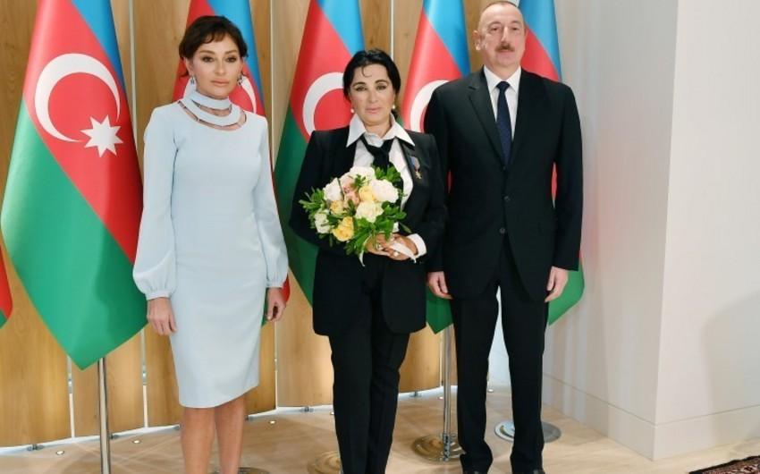Президент Азербайджана и первая леди встретились с главой Всероссийской федерации художественной гимнастики