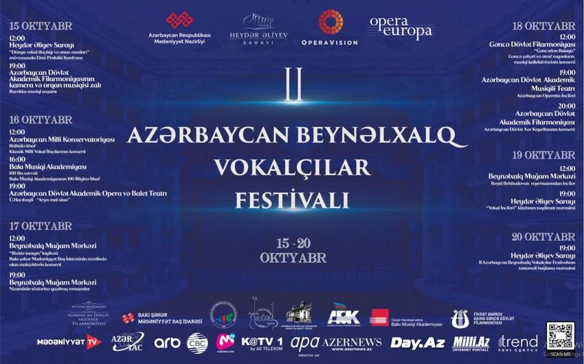 II Azərbaycan Beynəlxalq Vokalçılar Festivalı keçiriləcək
