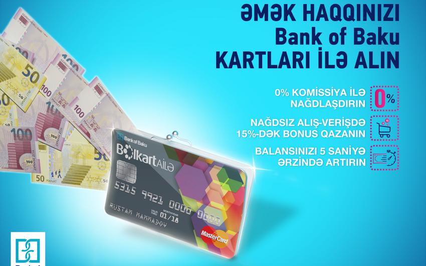 """""""Bank of Baku"""" korporativ müştərilərinə yeni əmək haqqı kartlarını təklif edir"""