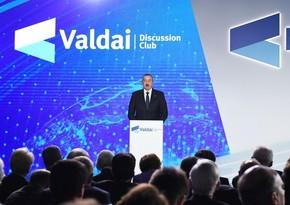 Rusiyalı ekspert: Azərbaycan Prezidentinin çıxışı Valday klubunun proqramının ən əlamətdar məqamlarından biridir
