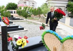 Prezident Naxçıvanda Vətən müharibəsi şəhidlərinin məzarlarını ziyarət edib - YENİLƏNİB