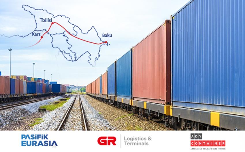 Bakı-Tbilisi-Qars ilə bu il 11 084 TEU konteyner daşınıb