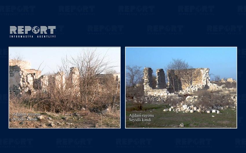 Видеокадры из села Сейидли Агдамского района