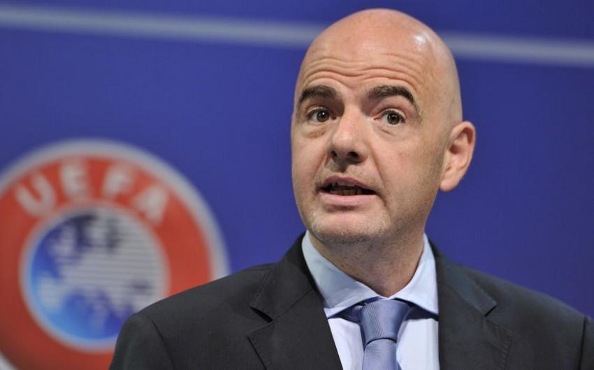 FİFA prezidenti Klublararası Dünya Çempionatının iştirakçılarının sayını artırmaq istəyir