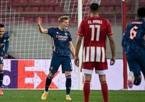 Арсенал обыграл Олимпиакос в первом матче 1/8 финала Лиги Европы