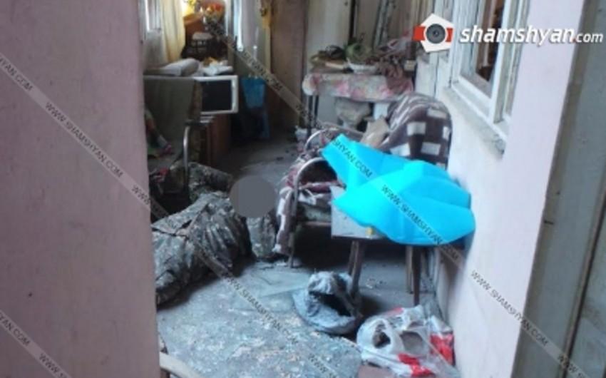 Yerevanda mənzildə partlayış olub, bir kişi ölüb