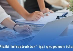 """""""Fiziki infrastruktur"""" işçi qrupunun növbəti iclası keçiriləcək"""