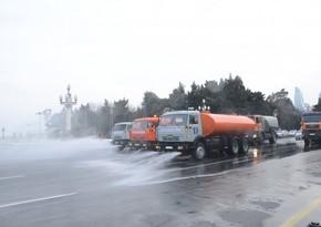 На улицах Баку проводится масштабная дезинфекция