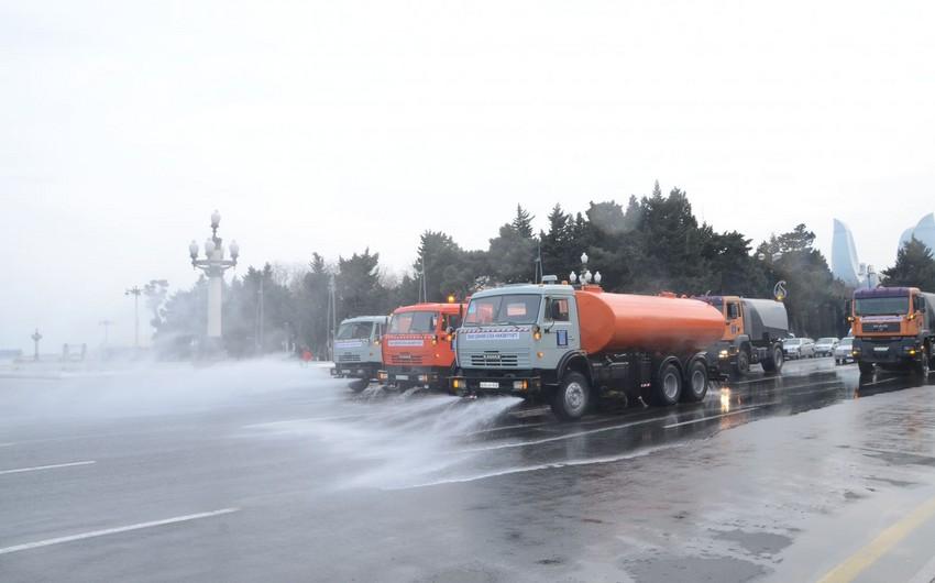 Завтра в Баку будут проведены усиленные дезинфекционные работы