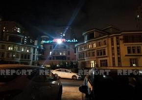 Пожар в Baku Medical Plaza