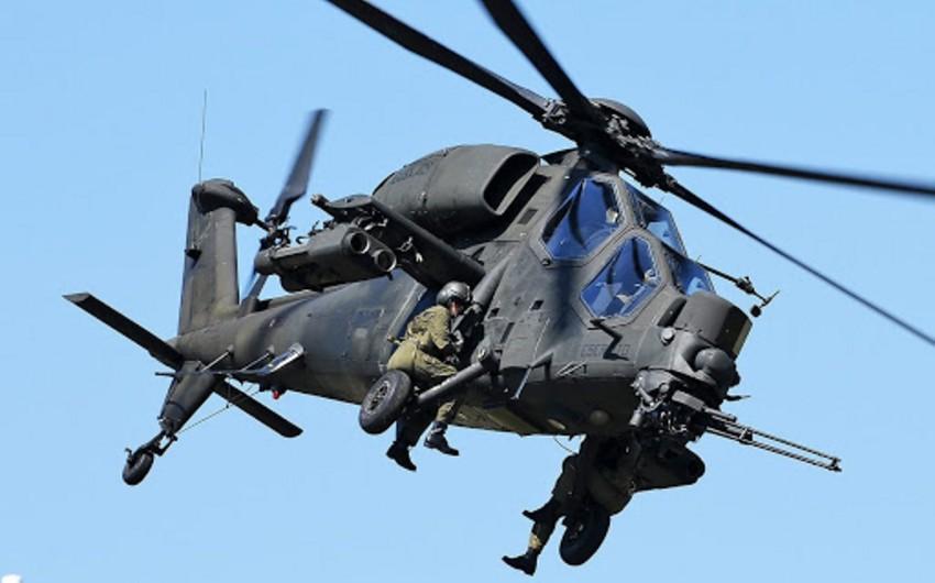 Tərtərdə zədələnən döyüş helikopteri peşəkarlıqla öz ərazimizə endirilib