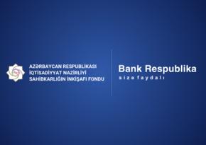 Bank Respublika sahibkarlara dövlət zəmanətli kreditlər verməyə başlayıb