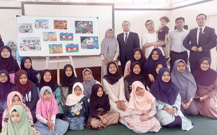 Azerbaijan ambassador spends a day in Indonesia orphanage